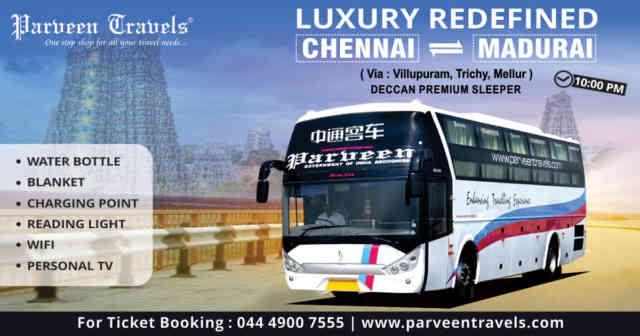 Get Great Deals On Chennai Madurai Bus Ticket Bookings