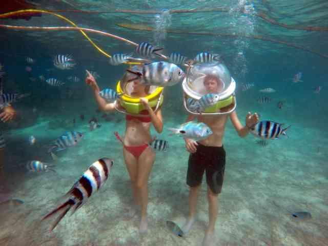 Helmet Diving in Mauritius 3