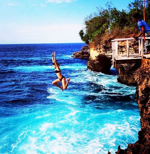 Gili Islands, Lombok, cliff dive 25 m