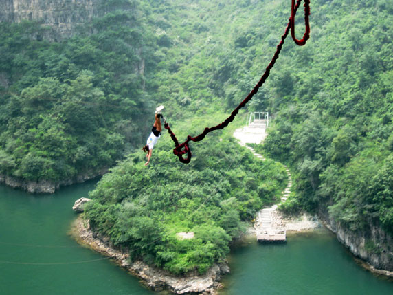 Longqing Gorge, China - This is a 164 foot drop