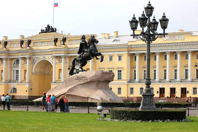 Senate Square and the Bronze Horseman monument