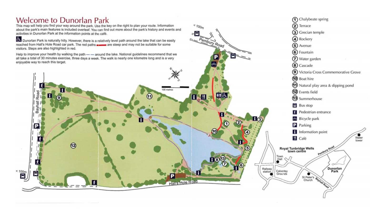 Dunorlan Park Map High Quality